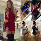 US Fashion Women Long Sleeve Bodycon Casual Party Evening Cocktail Mini Dress 1