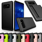 Credit Card Holder Hybrid Hard Protective Case Cover For Samsung Galaxy Note 8