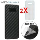 2pcs Carbon Fiber Skin Back Screen Protector For Samsung Galaxy Note8/S8/S8 Plus