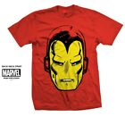 Iron Man T-Shirt Marvel Comics Avengers Head Print Great Gift for any fan