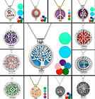 Diffuser Locket Pendant Aromatherapy Essential Oil Perfume Pendant Necklace J15