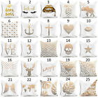New Gold Shining Printed Polyester Throw Pillow Case Sofa Cushion Cover