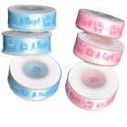 10 Yd It's A Boy/Girl Gift Ribbon Baby Shower   Christening Gift Packing Satin