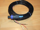 3 Wire Subwoofer Cable & Speakon Connector for REL & More Sub High/Speaker Input