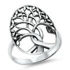 "925 Sterling Silver WOMEN'S ""TREE OF LIFE"" BAND DESIGN RING"