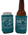 50th Birthday bash koozies no minimum celebrating can coolers fast shipping