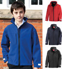 Boys Waterproof Windproof Breathable Soft Shell Jacket with Inner Fleece Layer