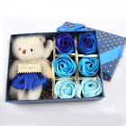 Romantic Bath Soap Rose Flower Bear Gift Box Valentine's Day Christmas Best Gift