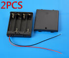 2PCS Box Holder Case With Cover ON/OFF Switch Wire For 2AA 3AA 4AA Battery