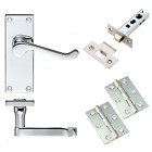 Internal Door Handle Sets Victorian Scroll Polished Chrome Door Packs 3-10 Pairs