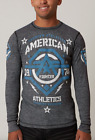 AMERICAN FIGHTER Mens THERMAL T-Shirt NEW MEXICO Athletic Biker Gym MMA UFC $54