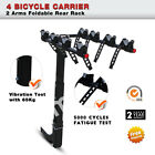 4/3/2 Bike Hitch Mount Rear Rack Carrier with 2-Inch Receiver Car Truck Trailer