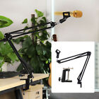 Mic Arm Stand Microphone Suspension Boom Scissor Holder For Broadcast 1SET