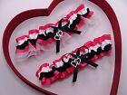 NEW White Black Hot Pink White Gorgeous Wedding Garter Prom Homecoming Dance