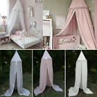 Baby Bed Canopy Bedcover Mosquito Net Curtain Bedding Dome Tent Cotton Ball Edge