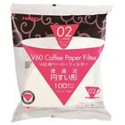 Hario V60 Size 02 Coffee Drip Paper Filter 100 sheets 1-4 cups VCF-02-100W