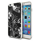 Black White Flower Mix Design Shockproof Hard Case Cover For Mobiles