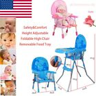 Portable Baby High Chair Infant Toddler Feeding Booster Folding Highchair USA