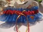 Handmade Superman Fabric Bridal Wedding Garter ~ Plus Size Available