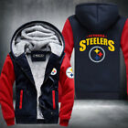 Steelers Football Team Men Women Thicken Fleece Zipper Hoodie Jacket Clothing
