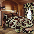 Regal Comfort BROWN RODEO 7pc. Comforter & Sheets BEDDING SET Full/Queen Size