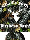camo 30th Birthday Koozie no minimum deer head can coolers quick ship 133550160