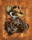 Draw by David Lozeau Wild West Cowboy with Gun Giclee Art Print