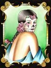 La Catrina by Candice Bauman Day of the Dead Sugar Skull Mask Canvas Art Print