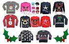 NEW BOYS GIRLS CHILDRENS KIDS CHRISTMAS XMAS RETRO WINTER KNITTED JUMPER SWEATER