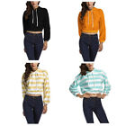 Women Sports Shirt Long Sleeve Hoodie Pullover Casual Sweatshirt With Hat 1 Pcs