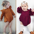 Toddler Baby Girl Clothing Outfit Long Sleeve Romper Jumpsuit Bodysuit Playsuit
