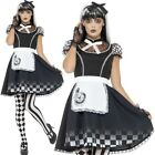 Halloween Ladies Gothic Alice Fancy Dress Costume Womens Outfit by Smiffys New