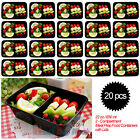 Meal Prep Microwave Lunch Bento Box Small Plastic Containers Food Storage 22 oz
