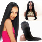 "Pretty 18"" Glueless Peruvian 100% Human Hair U Part Wig Silky Straight For Women"