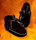 Moccasins Native American Suede baby toddler kids children boy girl brown black