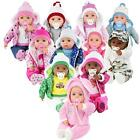 "20"" Lifelike Large Bibi Baby Doll Girls Boys Soft Bodied Toy With Dummy & Sounds"