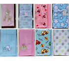New Baby Boys Girls Unisex Pram Crib Moses Soft Blankets Boy Girl Blue Pink