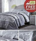 Damask Jacquard Duvet Cover Or Curtains Or Cushion Cover Or Bedspread Silver New