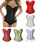 Women Steampunk Boned Waist Training Corset Lace Up Bustier Top Lingerie Shaper