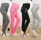 Women Cotton High Waist Maternity Pregnancy Pants Casual Trousers Fleece-lined