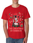 NEW Men's T Shirt The Christmas Throne Santa Trendy Ugly Xmas Tee