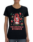 NEW Women's T Shirt The Christmas Throne Santa Trendy Ugly Xmas Shirt