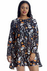 New Womens Plus Size Top Ladies Swing Dress Halloween Dance Skeleton Pumpkin