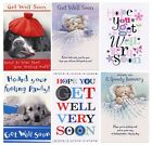 GET WELL SOON OR SPEEDY RECOVERY CARDS VARIOUS DESIGNS 1STP&P GREETING CARDS