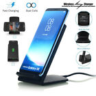 Qi Wireless Fast Charger Charging Stand Dock Samsung Galaxy S8+ iPhone X 8 7 6s