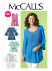 M7128 McCall's Sewing Pattern Misses 4-26 EASY Loose Fitting Pullover Tops Tunic