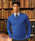 Premier Knitted Cotton Acrylic V Neck Sweater New Mens Warm Work Wear Sweaters