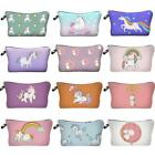 Unicorn Make Up Bag Idea Pencil Case Emoji Cosmetic Travel Girls ladies Gift - S