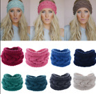 Fashion Headband Knit Flower Hairband Ear Warmer Crochet Women Hair Accessories
