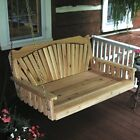 A&L Furniture Co. Amish-Made Cedar Fanback Swing Beds, Available in 3 Sizes